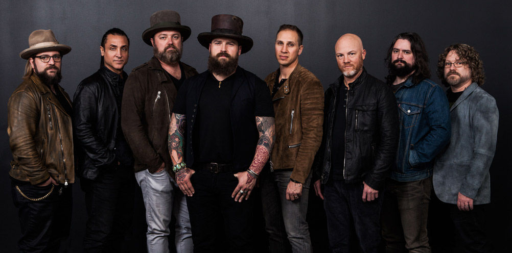 Zac Brown Band on the 50-yard line