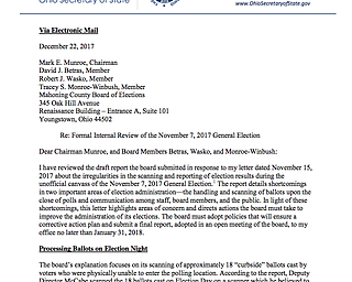 Husted letter to Mahoning Co. Board of Elections