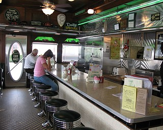 Traditional diner seating