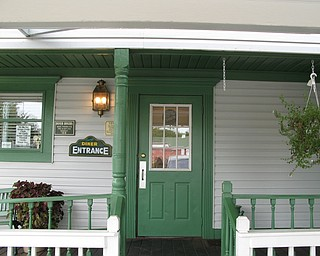 The main entrance is the back door.