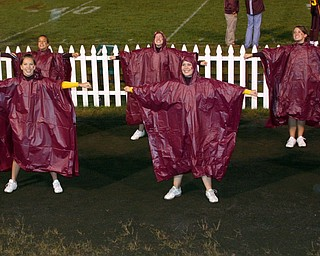 Taylor Hiner and Mandie Custer, front with Danielle Pendice, Dominique Bishop, and Jesse Heck, back...just trying to stay dry!