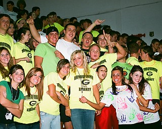 Girard Seniors get fired up at pep rally before the Battle of Belmont