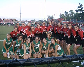 Chardon and Ursuline Cheerleaders