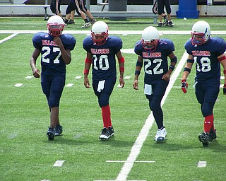 #18 JOSH BRESSLER. ALL 8TH GRADE FOOTBALL PLAYERS                                          AT THE NEW AUSTINTOWN MIDDLE SCHOOL. ( CAPTAINS)                                                                         AMS vs. CANTON HOOVER