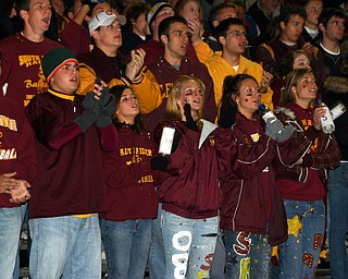 South Range students cheer the Raiders onto a victory over Columbiana.