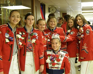 These senior band members were celebrating Senior Night Friday at Austitown Fitch