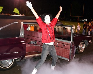 """""""Michael Jackson paid a visit to South Range High School to dance with the mighty Raider band to his most famous hit, """"Thriller!"""""""