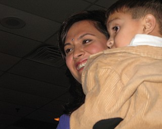 President-elect Dr. Sangeetha Sethi and her son.