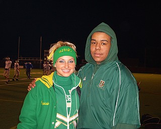 Captain Katie Olenick and Athletic Assistant Marcus Hayden