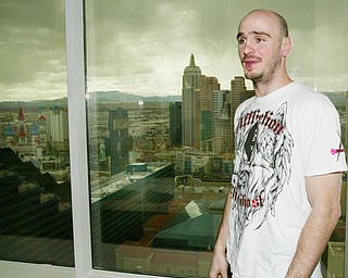 Kelly Pavlik's suite at the MGM Grand in Las Vegas.