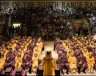 6.7.2008 South Range High School Graduation at South Range High School Saturday evening.