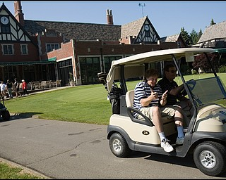 6.24.2008 Eddie Money at the DeBartolo Golf Outing at the Youngstown Country Club Tuesday afternoon.