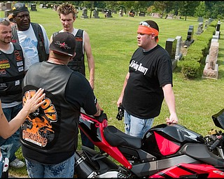 7.6.2008 Motorcyclists gather at Resurrection Cemetery in Austintown to pay respects to Matthew Adam Tynal who passed away in a motorcycle accident over a year prior on July 1, 2007. Geoffrey Hauschild
