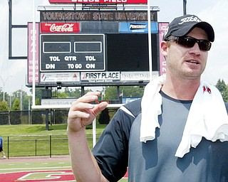 NO COACHING PLANNED: Jeff Wilkins, who helped at a kickers and punters camp at Youngstown State Tuesday, says he has no plans to coach.