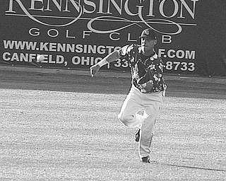 SCRAPPERS - LAKE MONSTERS - (12) Juan Valdes makes a play on the ball Thursday night at Eastwood Field.