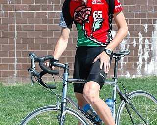 PEDALING FOR A CAUSE: Brian McCandless, a junior at Slippery Rock University and a Butler County native, doesn't let cystic fibrosis slow him down. Law year, the 21-year-old raised $14,000 for The Cystic Fibrosis Foundation on his 2,045-mile trek. He's hoping to top that this year.