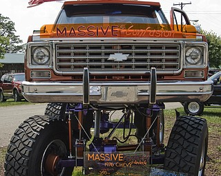 """The monster truck """"massive confusion,"""" on display at the Jeep Festival held at the Canfield Fair Grounds on Sunday, July 27, 2008. Daniel C. Britt."""