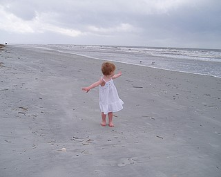 Photo taken in Hilton Head Island, SC in summer 2007 of Sydney Henderson, 2, daughter of Todd and Jacey Henderson of Poland