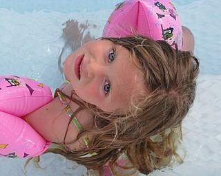 Hadley Jones of Austintown loves to swim in Grandpa's pool!