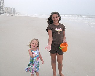 Taylor and Hadley Jones, daughters of Dawn and Don Jones of Austintown, having fun on the beach in Daytona Beach Florida.