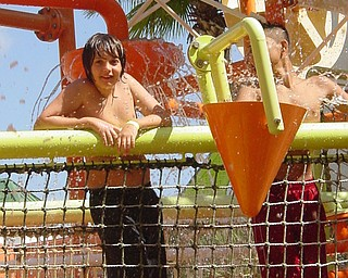 Stefan Russell of Boardman, Ohio on the waterslides at the Nickelodeon Hotel in Orlando, Fl.  Picture taken by stepdad,  John Trafficante.