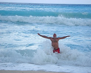 Here is a picture of my husband, Frank, enjoying the ocean while in Cancun. Marianne B Lordi of Youngstown