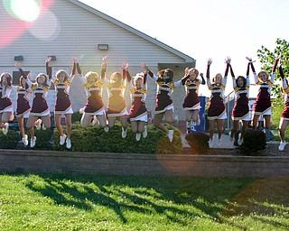 """South Range Varsity Cheerleaders are jumping for joy...it's time for FOOTBALL!"""