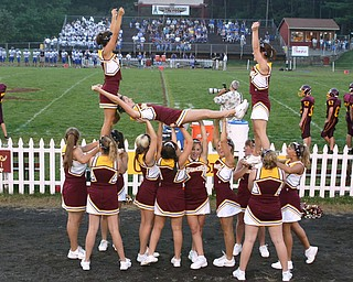"""Make That Kick!""  South Range Varsity encourages the team to kick the