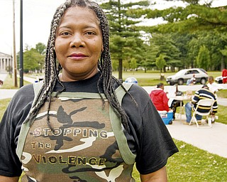 A PLACE FOR FUN: Sylvia Randolph of Youngstown, one of the organizers, hopes the event shows young people there's more in this community than violence and drugs.