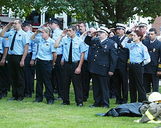 911 ceremony in Canfield Sept. 11, 2008.
