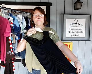 Elizabeth Sorokach in Nona's Closet in Liberty.