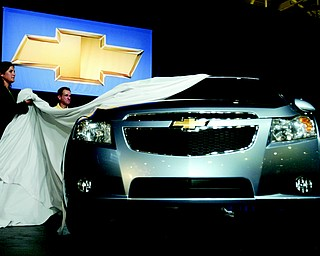 Chevrolet unveiled its new Cruze to the press Wednesday, September 24, 2008 at the Paris Auto Show. 