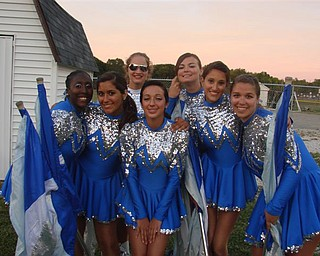 Poland Flag Line during Canfield Band night