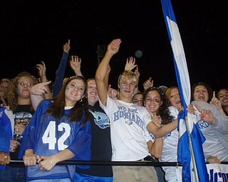 These are the Hubbard students at the Hubbard- Brookfield game! Go EAGLES!