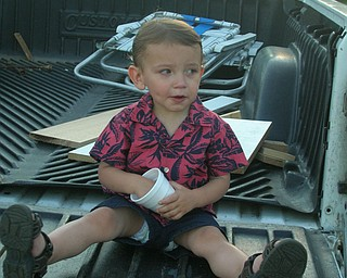 Attached is a picture of Gabriel J. Bettross (18 months) at a family picnic. He was eating grapes while watching the older kids play baseball! Parents are Mike and Carla Bettross, Boardman; Grandpa Myron Dobkowski, Poland; Grandma and Grandpa Louise and Jerry Bettross, Ellsworth; Grandma Candi Carson, Tarpon Springs, Florida. Enjoy, Carla Bettross