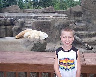 Robert Fay at Cleveland Zoo at the Polar Bear Exhibit. Debbie Fay Hubbard, OH