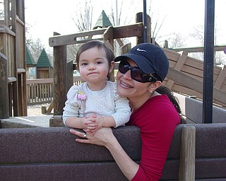 Adriana Trafficante and Mom, Danielle Trafficante enjoying a day at Boardman Park.  Picture taken by John Trafficante. All reside in Boardman, Ohio