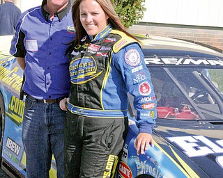 Stock car driver Allie Owens