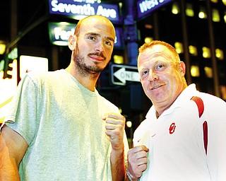 Kelly Pavlik and trainer Jack Loew