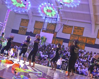 A visit to Ursuline High School for their pep rally on Thursday October 16th; the day before the big 50th anniversary game vs. Mooney High School.