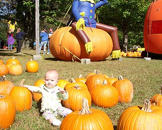 Ashlynn Mason, 10 months, visits Countryside Farms in Poland. She's the daughter of Beth and Matthew Mason of Salem.