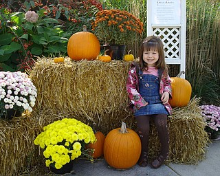 Bree Taylor Latell, 3, visits Fellows Riverside Gardens. Photo by her mom, Jen Cline-Latell.