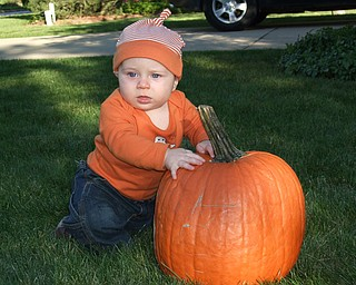 This is Dylan Kelty enjoys a beautiful fall day in Poland.  Sarah Kelty, his mom, submitted the photo.
