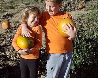 Matthew and Julia Ranno of Poland at Detwiller's Pumpkin Farm. Sent by Donna Ranno