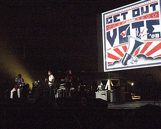 Get Out and Vote '08 show at the Chevrolet Centre Wednesday night.