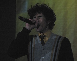 Mike D of the Beastie Boys at the Get Out and Vote '08 show at the Chevrolet Centre Wednesday night.