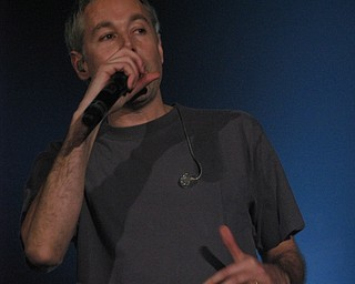 Adam Yauch of the Beastie Boys at the Get Out and Vote '08 show at the Chevrolet Centre Wednesday night.