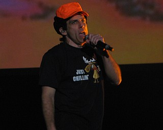 Ben Stiller subs as Adam of the Beastie Boys at the Get Out and Vote '08 show at the Chevrolet Centre Wednesday night.