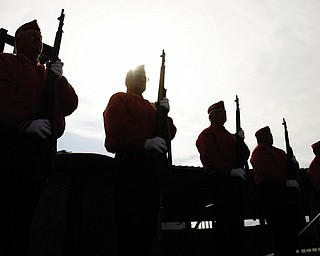 Members of the Mahoning County Marine Corps League honored the YSU vets in memoriam by having a 21 gun salute.