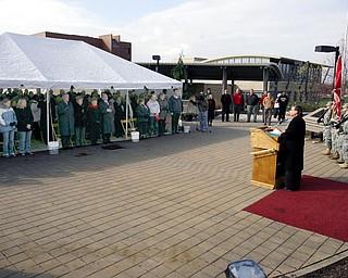 Veterans Day ceremony at YSU